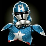 Stormtroopers & Marvel Comic Characters Colorful Mashup