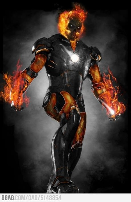 Super Hero mashup Iron Man Ghost